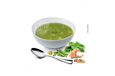 Proteïne soep met Groenten en croutons
