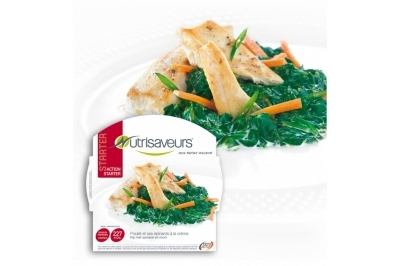 Proteïne Kipreepjes met spinazie in roomsaus