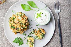 proteine dieet recept courgette koeken